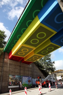 เพ้นท์สะพานเป็นตัวต่อเลโก้ ที่เยอรมัน