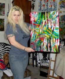 ไครา อิน วาสเซกี้ ศิลปินสหรัฐฯ ใช้นมวาดรูป