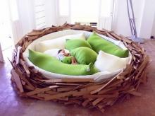 รังนกยักษ์ เตียงนอนรังนก ไอเดียสุดบรรเจิด