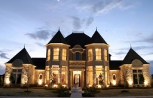 บ้านที่สวยและใหญ่โตราวกับ