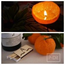 ทำเทียน กลิ่นส้ม จากผลส้ม