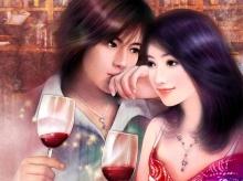 ภาพวาดคู่รัก.. รับวาเลนไทน์....