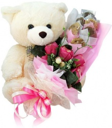 ตุ๊กตาหมีกับช็อกโกแลตสวย ๆ มาแล้วค่ะ @^_^@