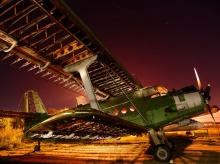Russian Aircraft Museum by Night