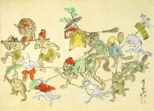Sketches of hell by Kyosai
