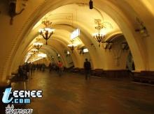 สถานีรถไฟใต้ดิน ที่กรุงมอสโคว์ รัสเซีย สวยมากๆ
