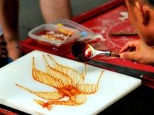 ขนมน้ำตาล ศิลปะสวยๆ ของจีนบนขนมหวาน