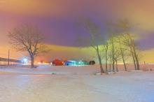 หิมะเรืองแสงโดยฝีมือมนุษย์