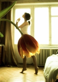 กระโปรงจากดอกไม้