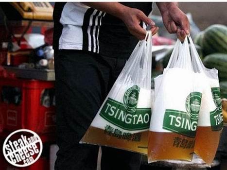 ซื้อเบียร์กลับบ้าน ไม่ได้เป็นแก้วหรือกระป๋อง แต่มาเป็น...ถุงป๊าดติก!