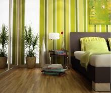 แบบห้องนอนแสนสบายโทนสีเขียว