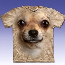 เสื้อยืดหน้าสุนัขแบบเหมือนจริง
