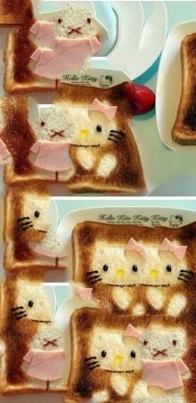 น่ารักศิลปะจากขนมปัง!