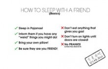 วิธีนอนหลับกับเพื่อนอย่างถูกวิธี...