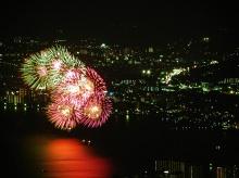 ดอกไม้ไฟหน้าร้อน ณ Lake Biwa Japan