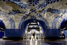 สถานีรถไฟใต้ดินสุดอาร์ตใน Stockholm