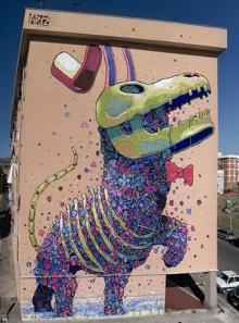 ศิลปะ เจ๋งๆ บนกำแพง