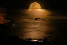 Moon on night