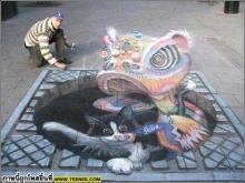 ~~~ศิลปะบนท้องถนน~~~!!โอ้พระเจ้า!!