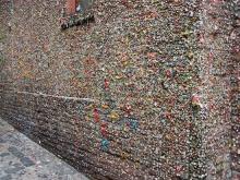 กำแพงหมากฝรั่งศิลปะแบบ อี๋ ๆ