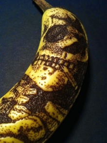 ศิลปะบนเปลือกกล้วย