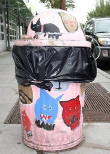 ถังขยะ สาธารณะ..เพ้นส์ลาย(เข้าใจคิดแฮะ)
