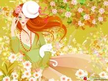 - Girl & Flower ( 1 ) -