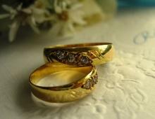 ชุดแหวนเพชร สำหรับบ่าวสาว