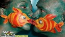 ความรัก ของปลาช่างหวานดูดดื่มกันจริงๆ หรือคน