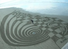 **When Beaches Become Giant Sand Art Canvases**