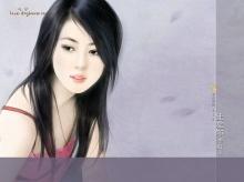 ภาพวาดสาวหวานสวยสดใส