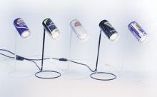 โคมไฟตั้งโต๊ะจากกระป๋องเบียร์