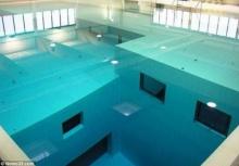 มาดูสระว่ายน้ำที่ลึกที่สุดในโลก 34.5เมตร