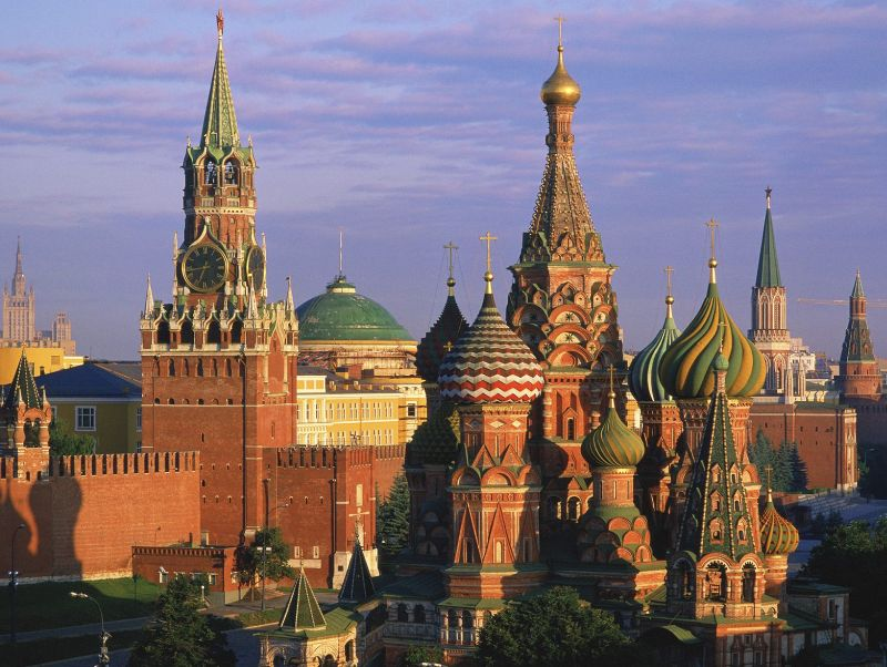 Basils Cathedral and Kremlin Moscow Russia