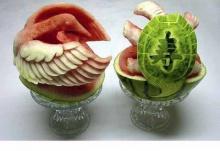 แกะสลักแตงโมสวยงามมาก
