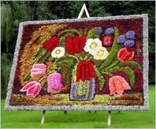 ภาพวาดจากดอกไม้ สวยงามมาก