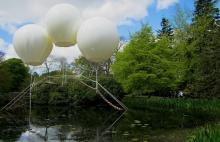 สะพานเเขวนสุดเเนว ขึงเเทนด้วยบอลลูน