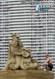 ปะติมากรรมทราย น่าทึ่ง!!