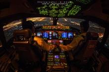 วิวสวยบนน่านฟ้า จากห้องของนักบิน
