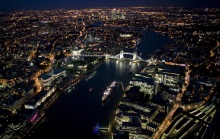 Awesome London from above, at night.....1
