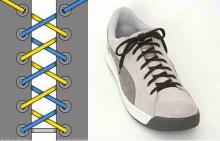 วิธีผูกเชือกรองเท้า 30 แบบ (1)