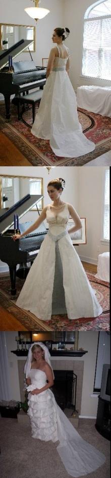 ชุดแต่งงานกระดาษทิสชู่ น่าใส่มากๆ