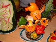 ผักผลไม้แกะสลัก ลายการ์ตูนสุดน่ารัก!!