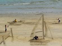 วาดภาพ 3 มิติจากหาดทราย