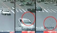 ระทึก!เศรษฐีจีนขับรถโปรยเงินกลางถนน