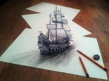 มหัศจรรย์! ภาพวาดดินสอ 3 มิติ
