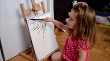 คุณแม่เปลี่ยนภาพวาดศิลเปรอะ!ลูกรักให้กลายเป็น'ศิลปะ'