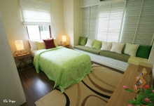 ห้องนอนสีเขียวแบบธรรมชาติ