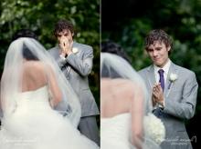 24 ภาพประทับใจเจ้าบ่าวนาทีที่ได้เห็นเจ้าสาววันแต่งงาน