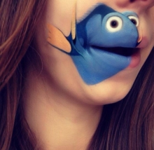 ทำปากเป็นรูปการ์ตูน น่ารักเฟ่อร์